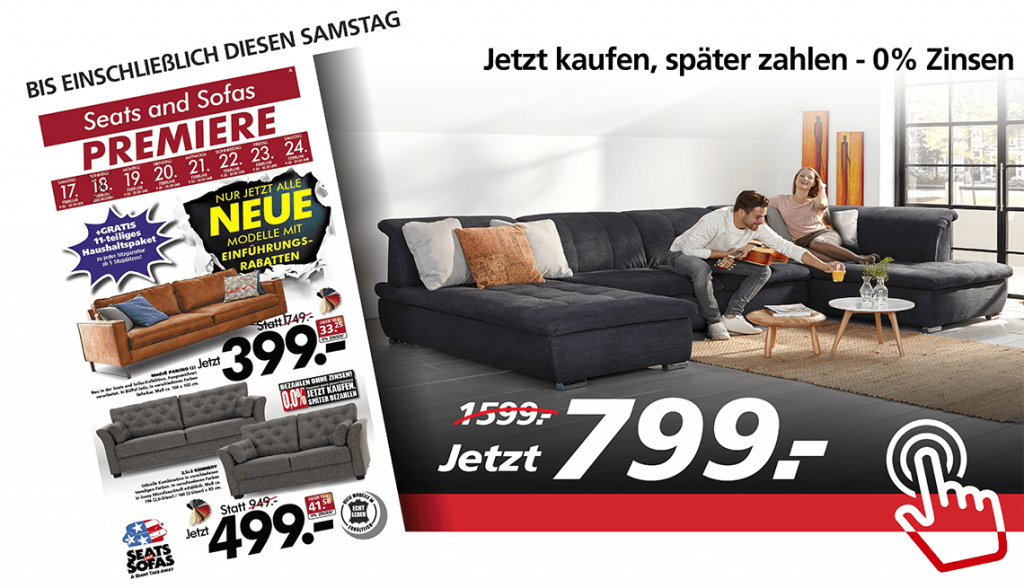 Sofas | Ecksofas | Sessel | Schlafsofas | Seats and Sofas
