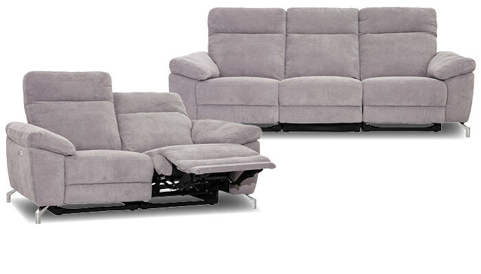 graue Sofas mit Relaxfunktion