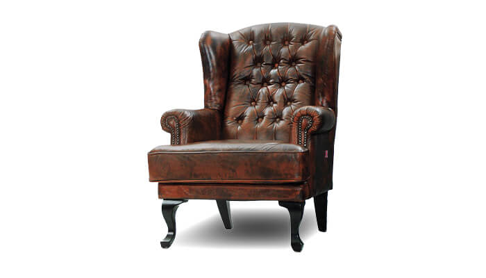 Sessel Chesterfield Cognac Farbe