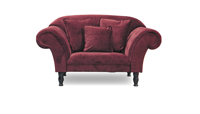 Loveseat samt bordeaux