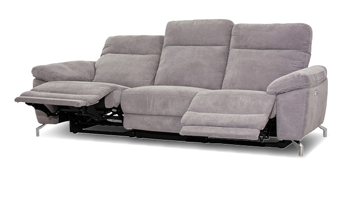 Sofa 3 sitzer mit relaxfunktion grau