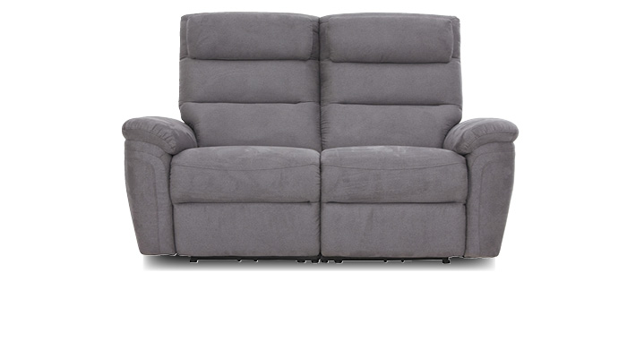 Sofa mit relaxfunktion, 2 sitzer grau