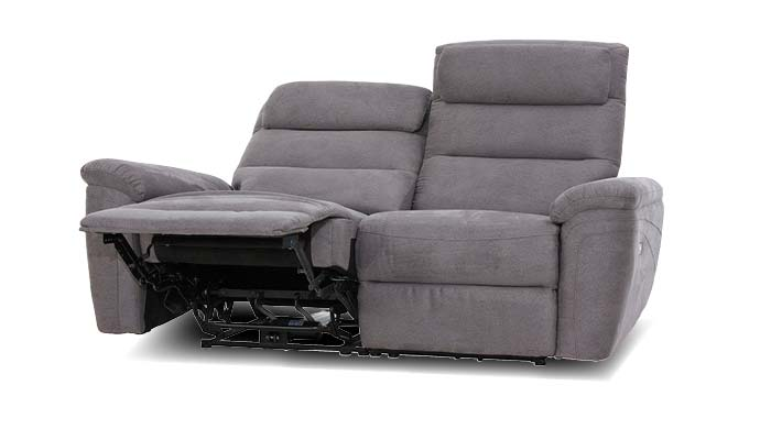 Sofa 2 sitzer mit relaxfunktion grau