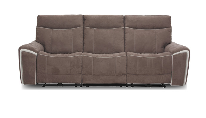 Sofa 3 sitzer taupe mit relxfunktion