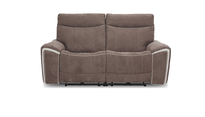 2 Sitzer Sofa mit relaxfunktion taupe