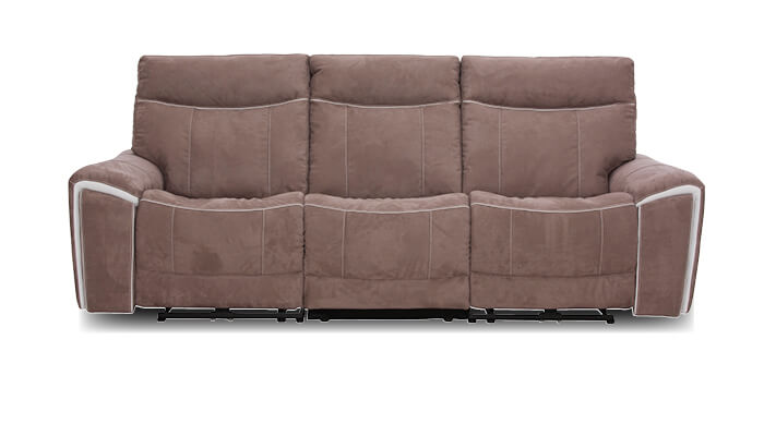 3 Sitzer Sofa taupe mit Relaxfunktion