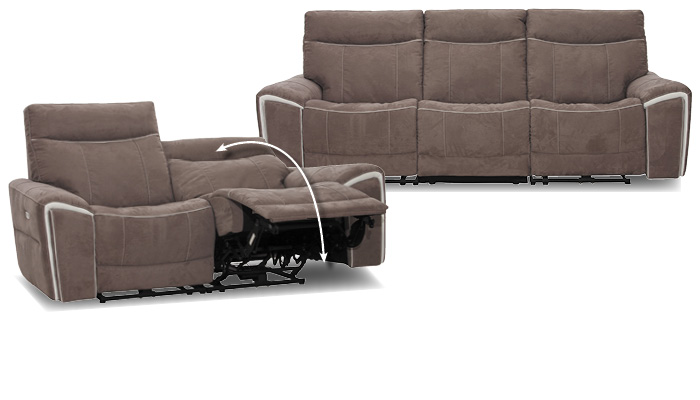 braune Sofas mit Relaxfunktion