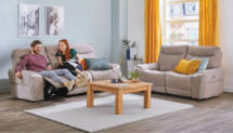 beige Sofas mit Relaxfunktion