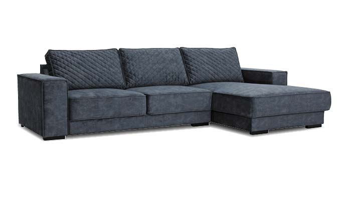 dunkelblaues Loungesofa