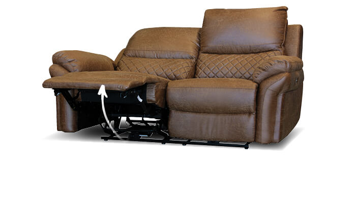 braunes Sofa mit Relaxfunktion